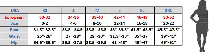 Women   size chart also charts sizing guides smoky joe clothing rh smokyjoesclothing