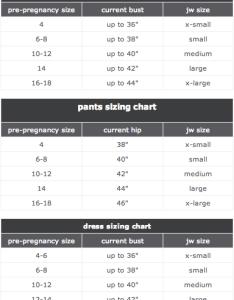 Motherhood closet japanese weekend size chart also maternity consignment rh motherhoodcloset