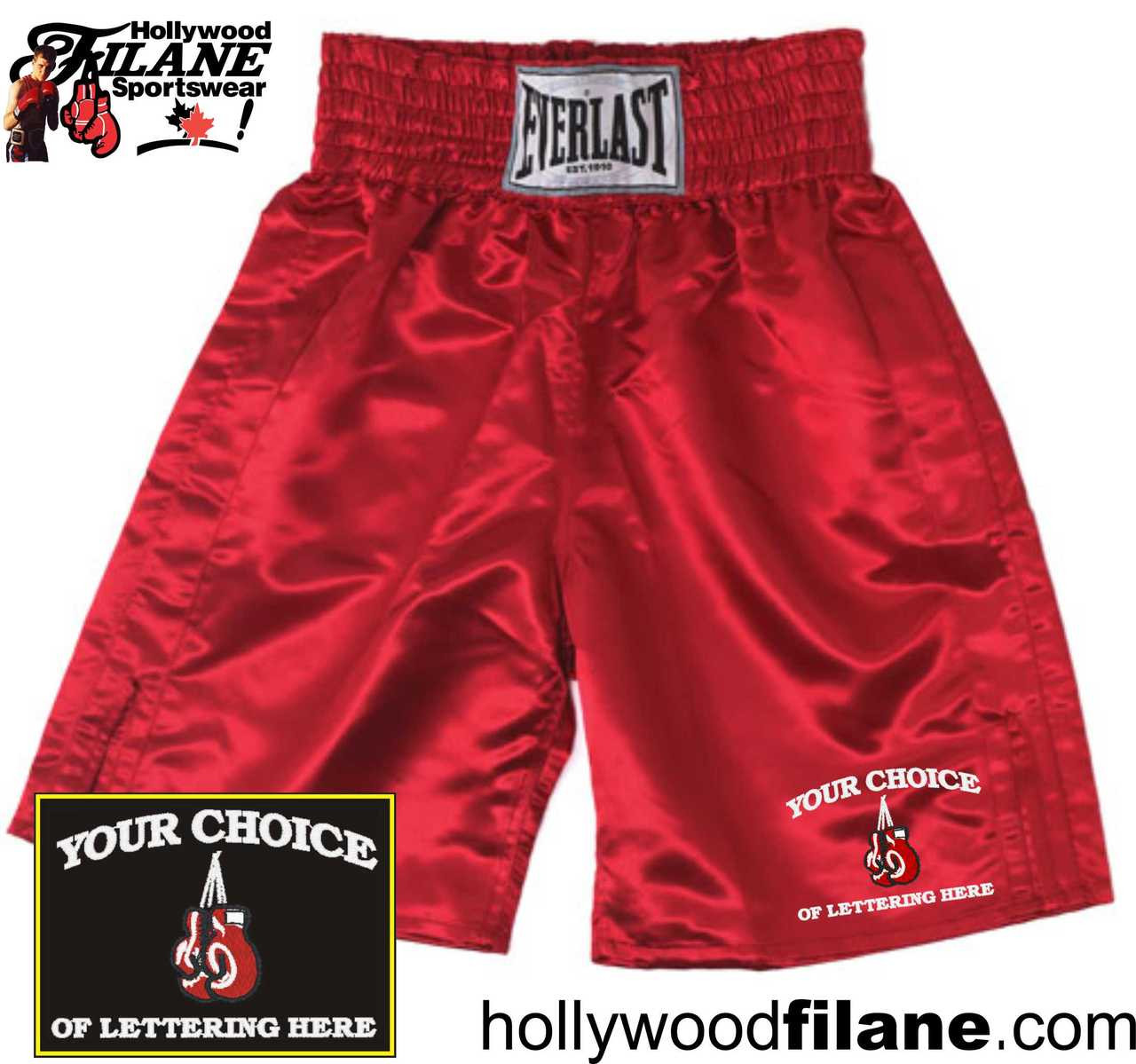 Personalized Everlast Boxing Trunks Custom Embroidered