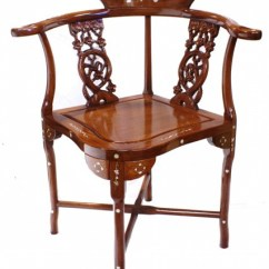 Wooden Corner Chair Stand Definition Inlaid Solid Chinese Rosewood 33 H Oriental Charming W Shiny Finish Mother Of Pearl