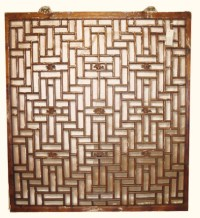Antique Window Chinese Lattice Design | Oriental Furnishings