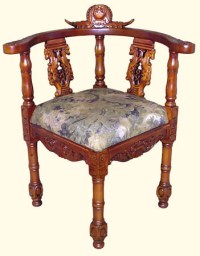 Corner Chair in Oriental European Style Mahogany for ...