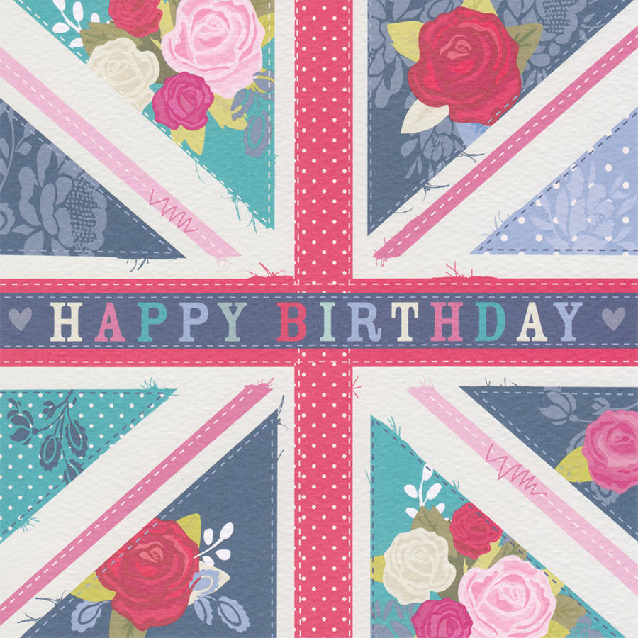 Happy Birthday Card British Flag Hope And Glory