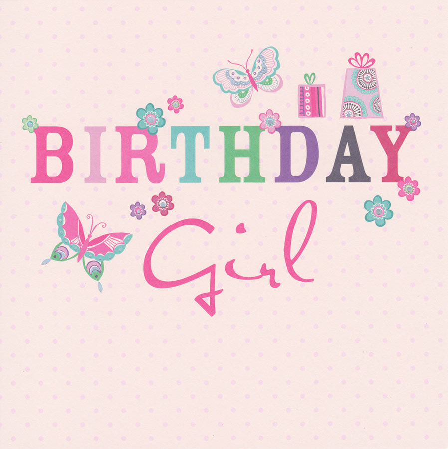 Carlton Cards Birthday Girl Card Butterflies CardSpark