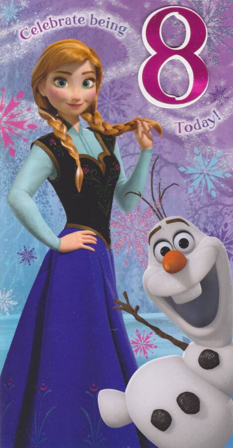 Disney Frozen Age 8 Birthday Card 8th CardSpark