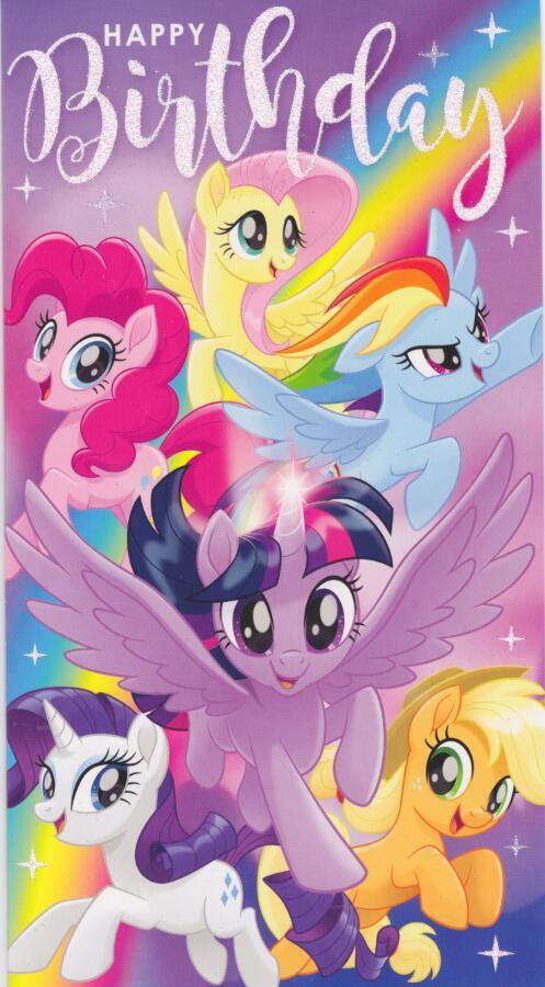 My Little Pony Birthday Card Glitter CardSpark
