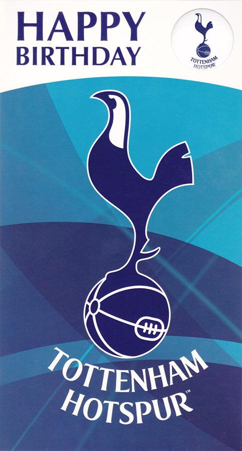 Tottenham Hotspur Crest Happy Birthday Card With Badge