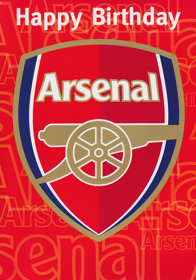 Arsenal Football Club Birthday Card Sound Card CardSpark