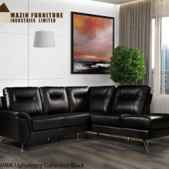 Cheap Black Leather Sectional Sofas Clic Clac Sofa Bed With Arms Mazin 9969 Top Grain High Sun Mattress Image 1
