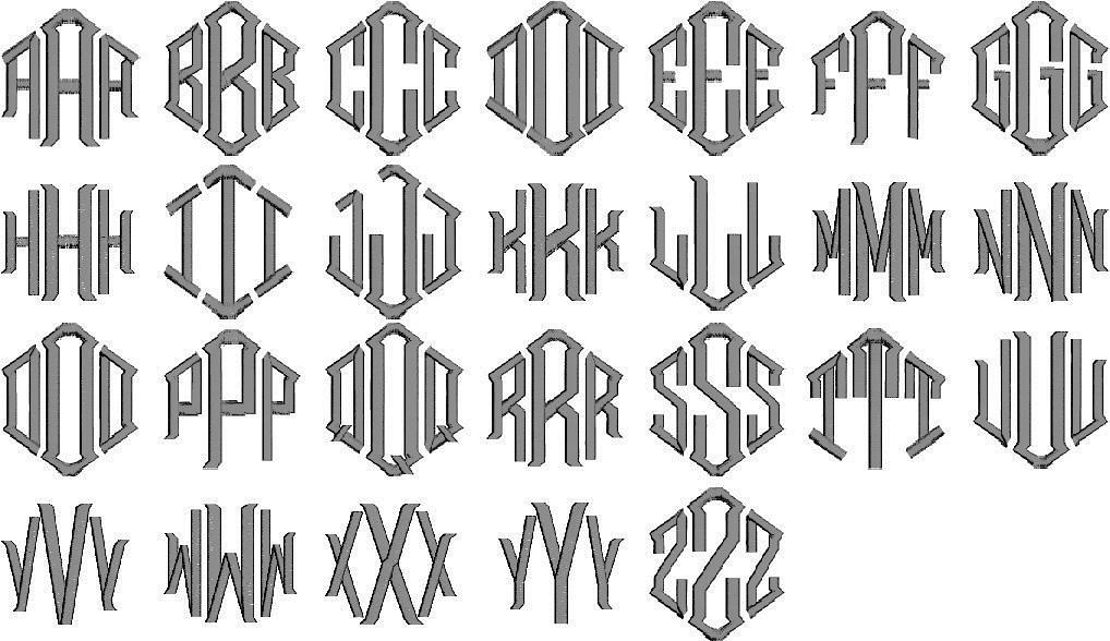 Monogram Styles & Fonts