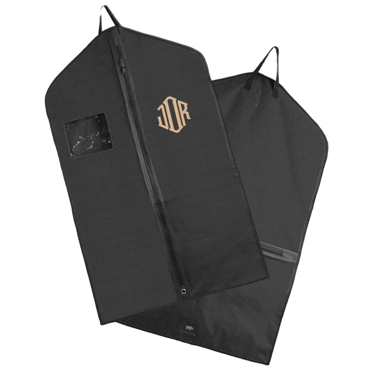 monogrammed suit bag
