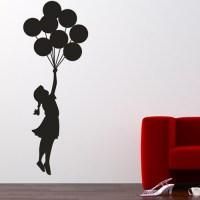 Banksy Balloon Floating Wall Sticker - Stickers Wall