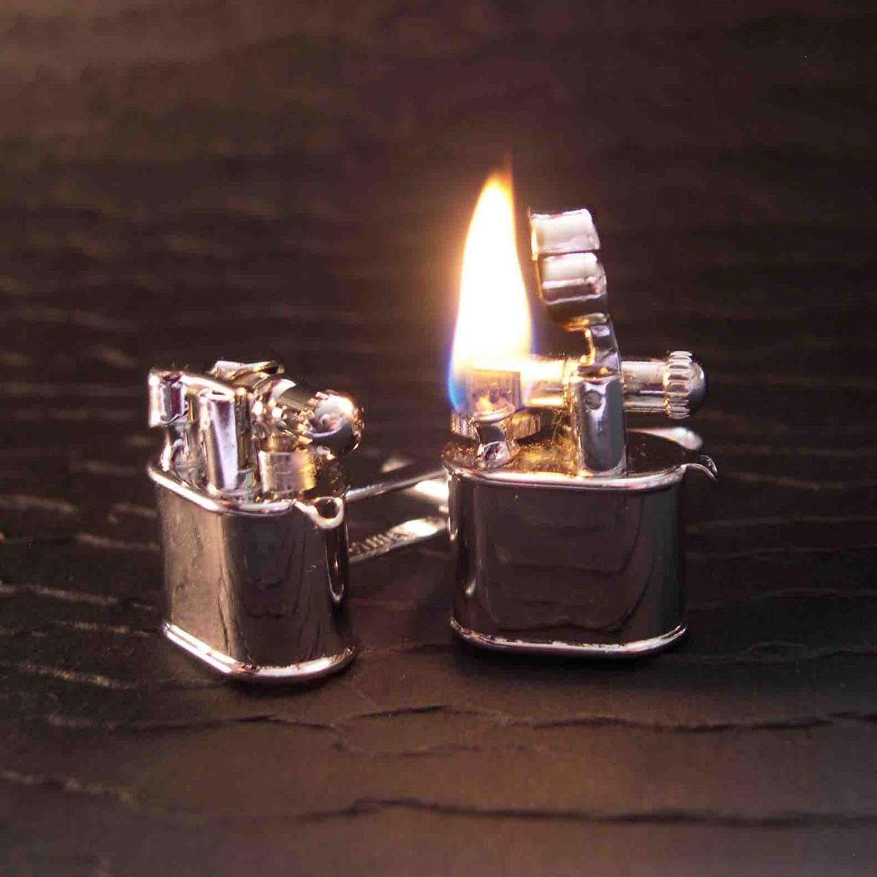 lighter cufflinks you light