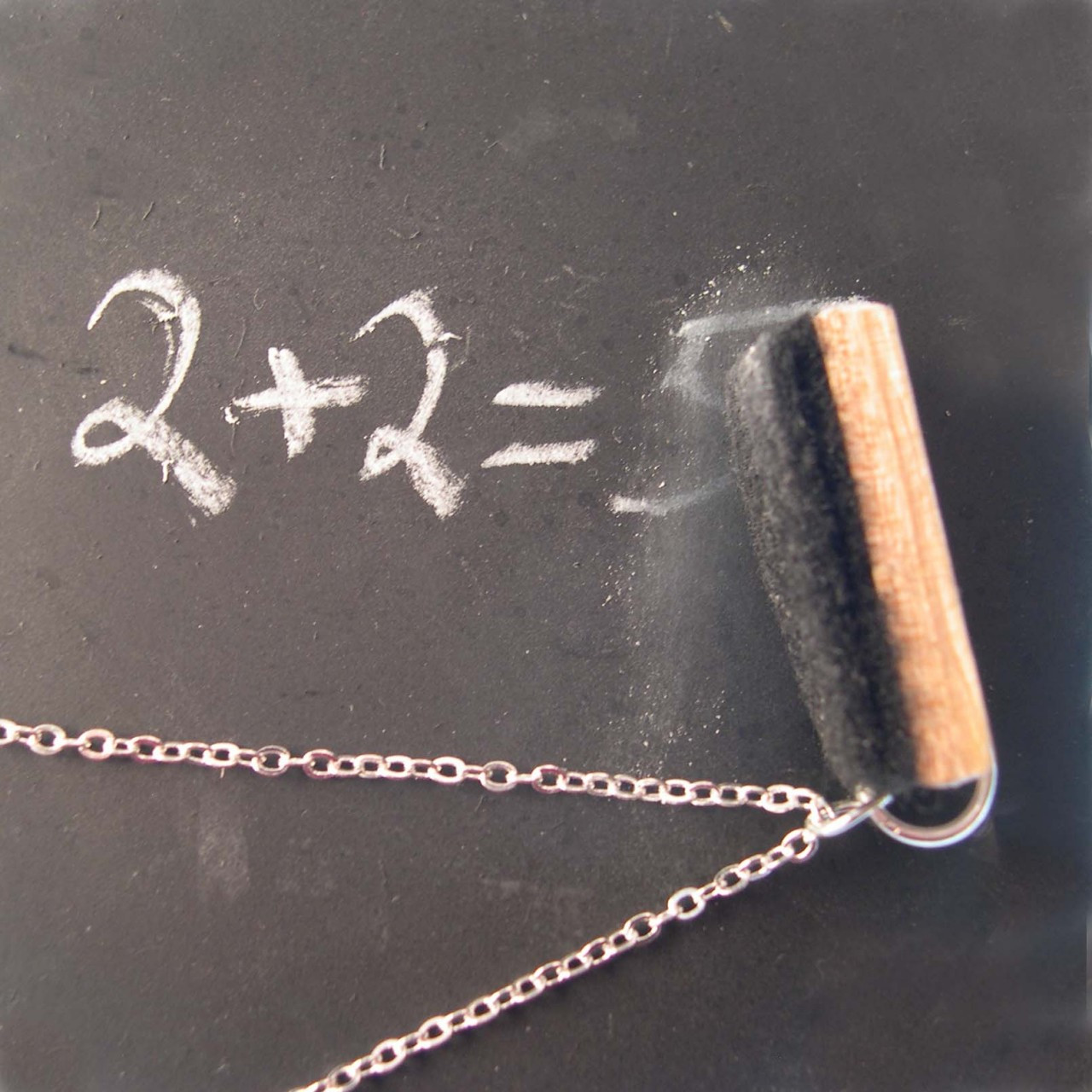 chalk eraser necklace