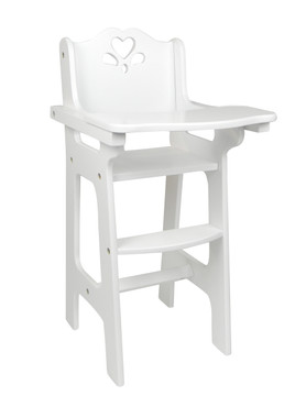 baby doll high chairs hanging chair home bargains white hand painted my s life image 1