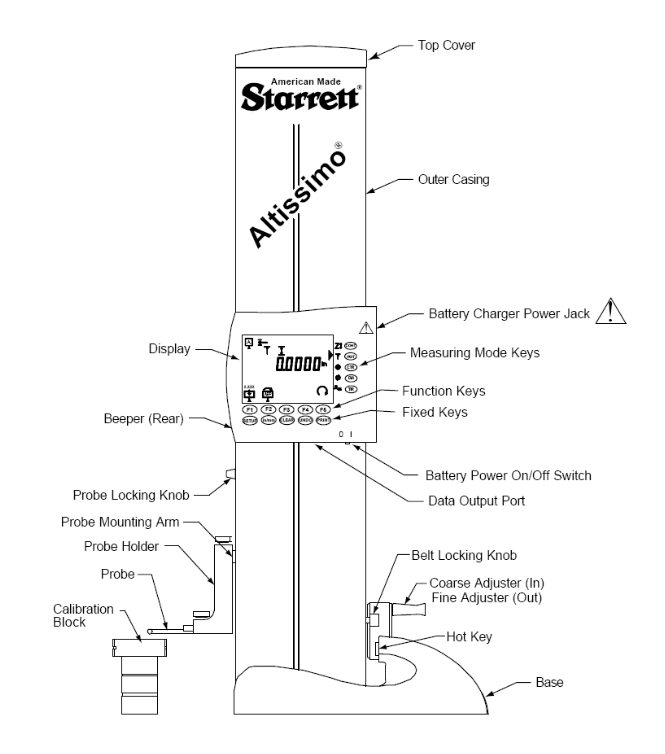 Starrett Altissimo Electronic Height Gage 2000-24. Brystar