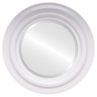 White Round Mirrors from $119| Lancaster Linen White| Free ...