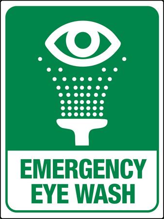 Emergency Eye Wash Station Wall Sign