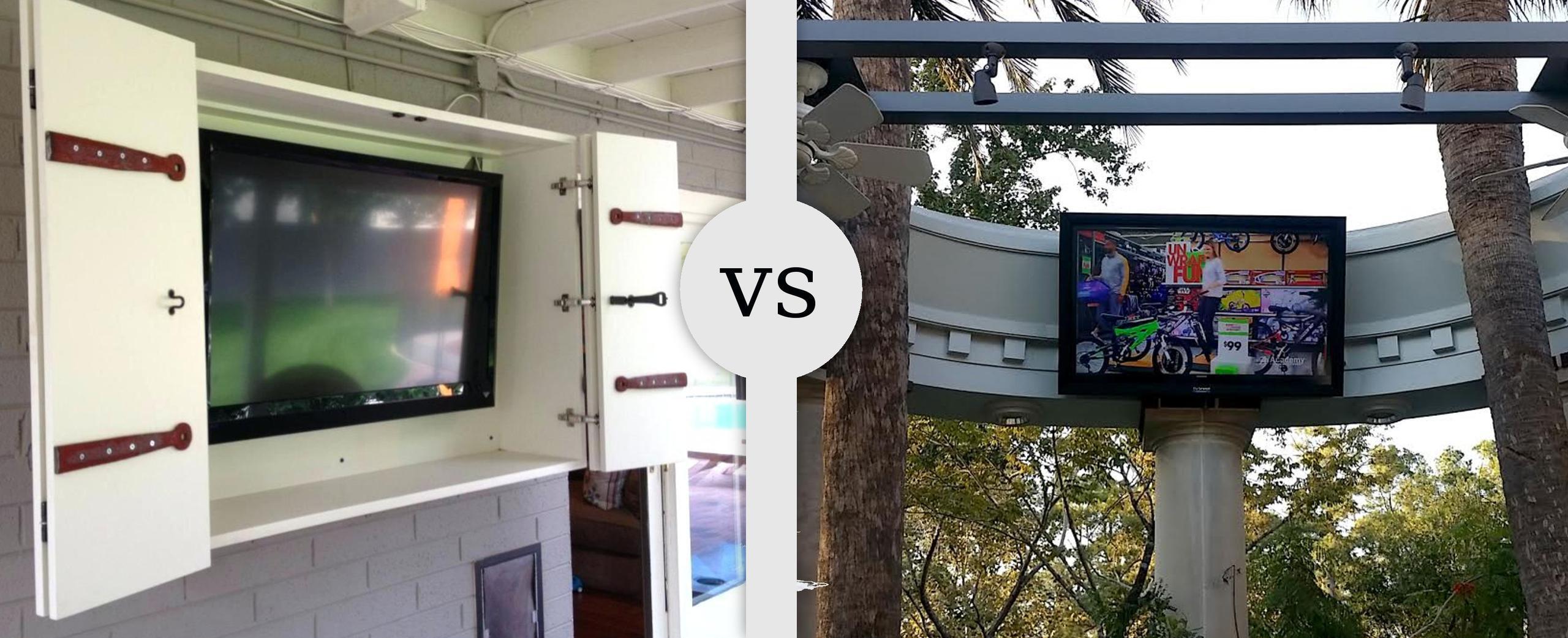 weatherproof outdoor tv cabinet for