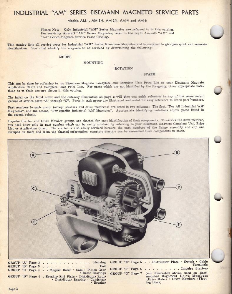 Industrial Wiring Diagrams Eisemann Am Magneto Parts Catalog 1949
