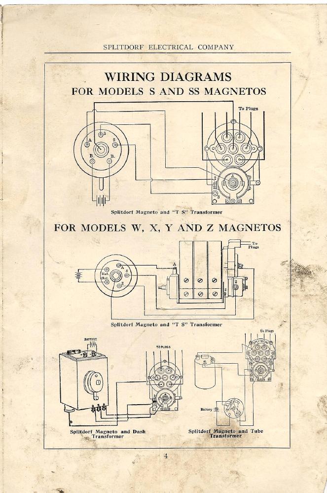 Mago Rx:  Splitdorf  Splitdorf Wiring Diagrams 1914  Silver Star Equipment LLC Store