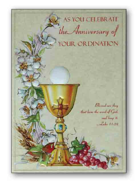 Ordination Anniversary Cards Pack 6 Ark Religious Supplies