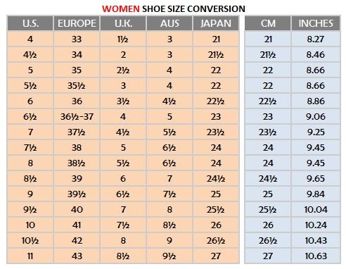 Women shoe sizes also very tango online store rh verytangostore
