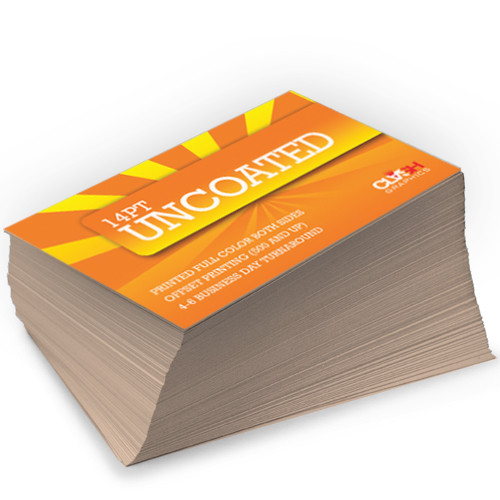 14pt uncoated matte card