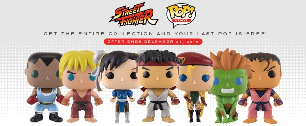 Buy 7 Funko Street Fighter Pops and get the last one free until December 31