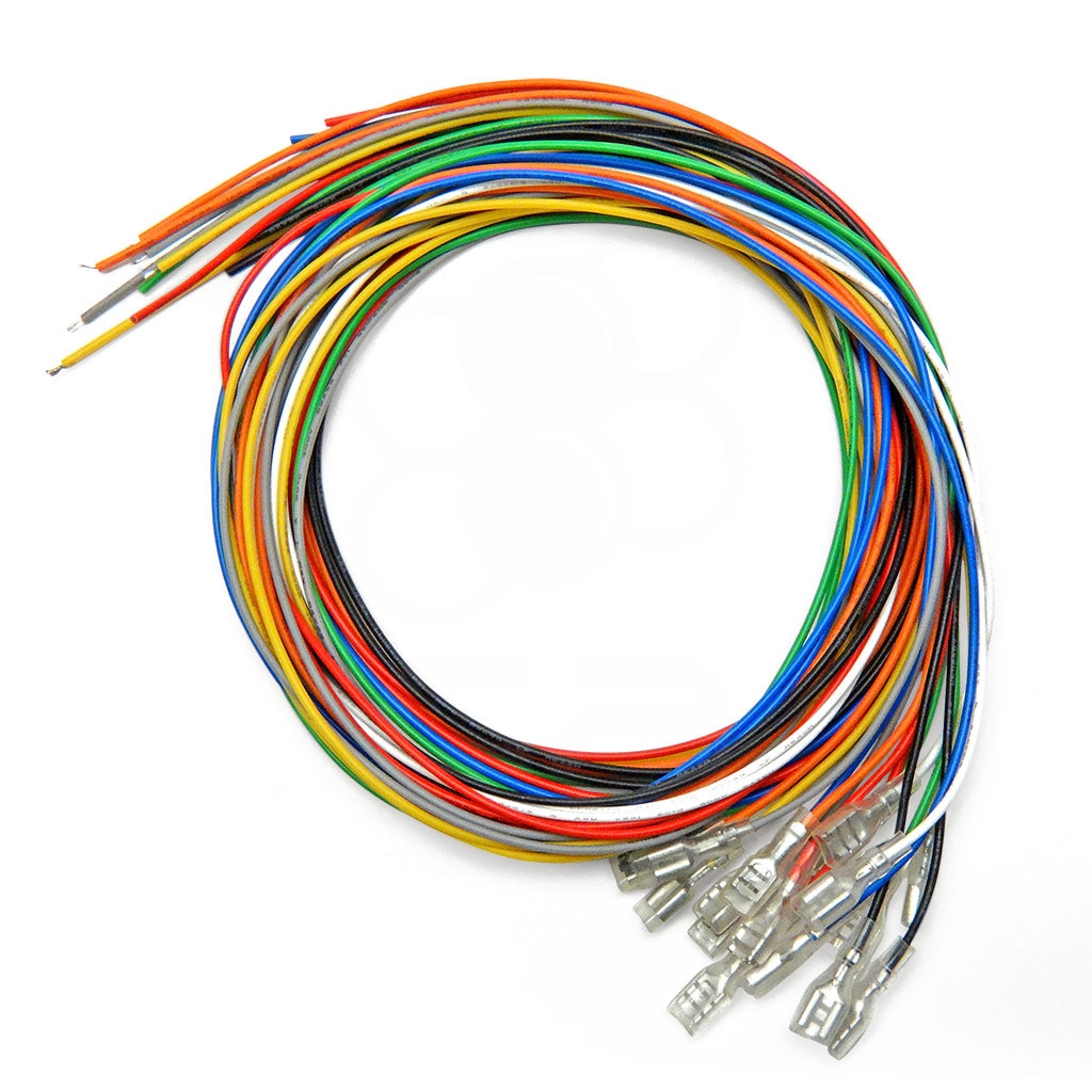 hight resolution of 16pc 22 awg wire with 187 quick disconnect