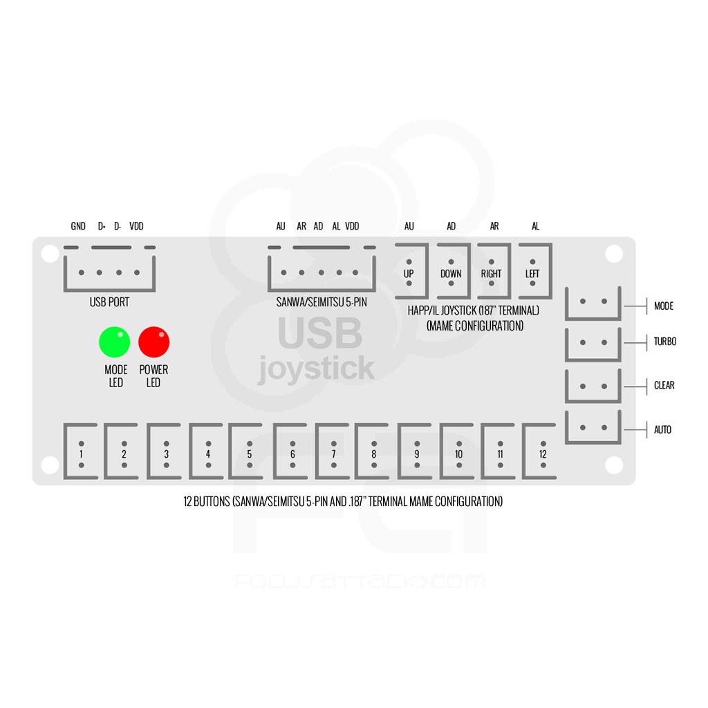 medium resolution of ps3 pc zero delay usb encoder pcb japan style controls home wiring diagrams 6912 wiring diagram