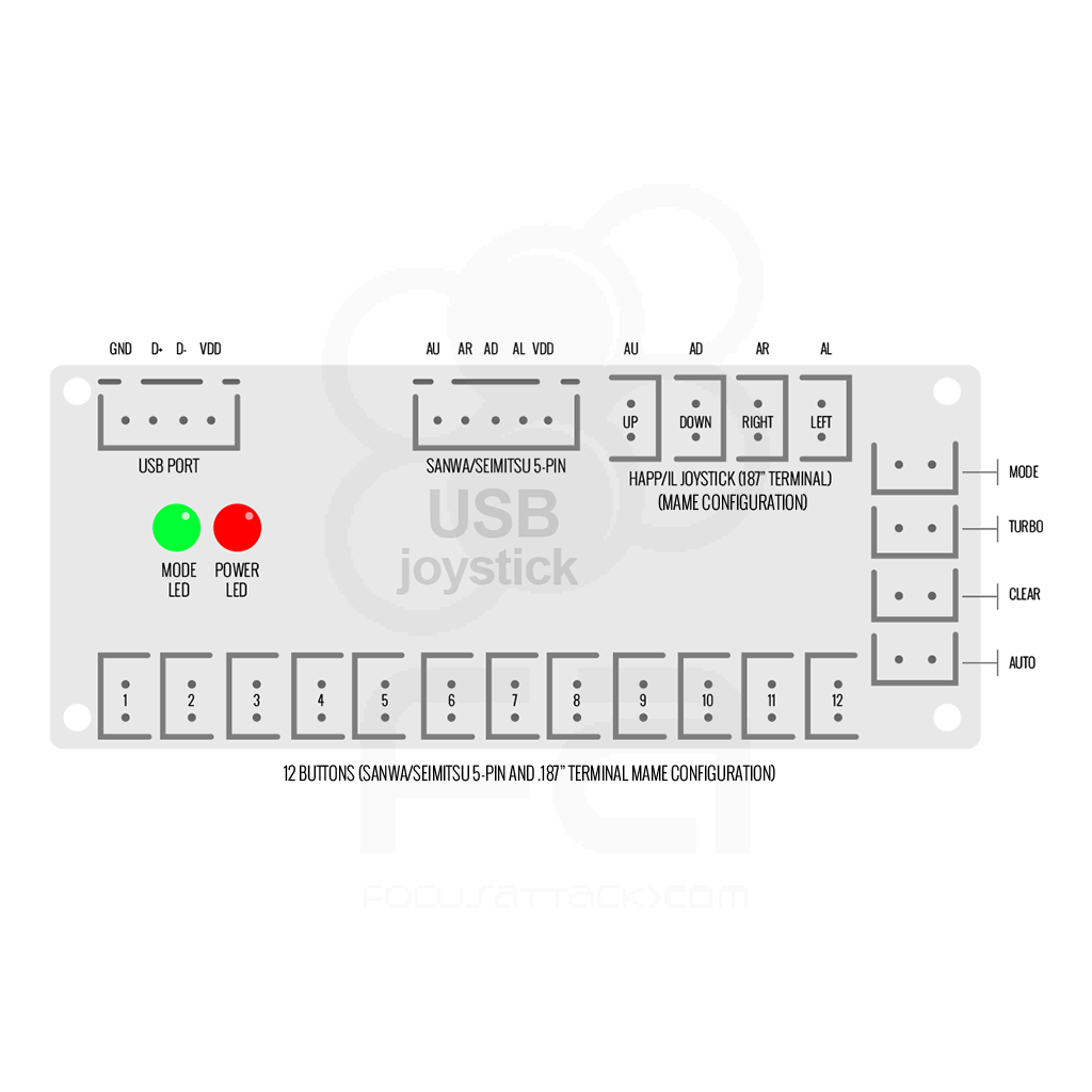 hight resolution of ps3 pc zero delay usb encoder pcb japan style controls home wiring diagrams 6912 wiring diagram
