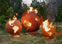 Fire Pit Art - Mother Earth - 8 Foot Globe of The Earth ...