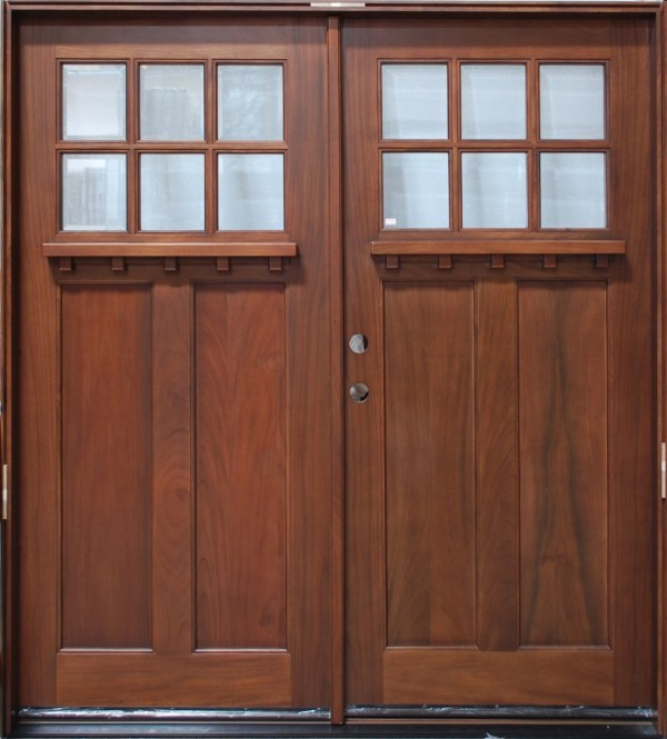 Solid Wood Double Entry Doors Vtwctr