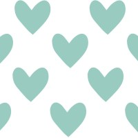 Hearts Fabric Wall Decals, DuckEgg Blue - Spearmint ...