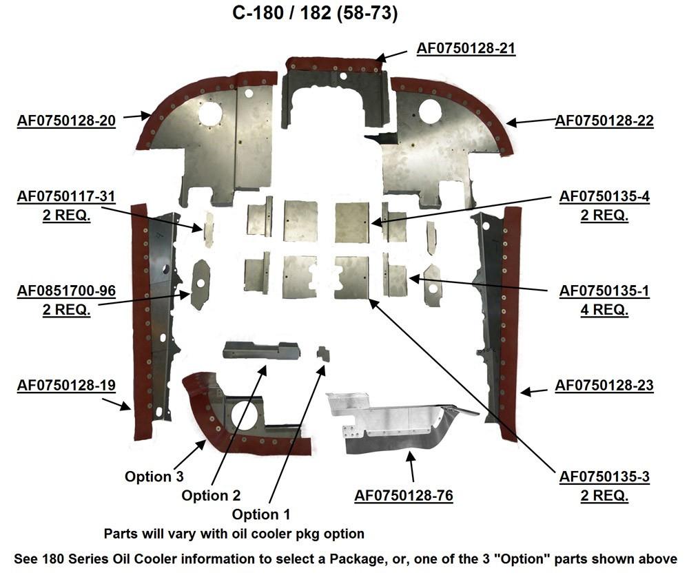 cessna 180 engine baffles cessna 182 engine baffles cessna 0750117 31 0750128 [ 1000 x 835 Pixel ]