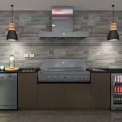 Outdoor Kitchen Exhaust Hoods Moen Motionsense Faucet Euro Serata Hooded Bbq The Store