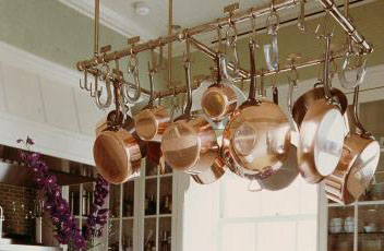 Thinking About a Pot Rack for Your Copper Cookware