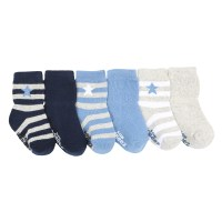 Rugby Star Baby Socks, 6 Pack | Robeez