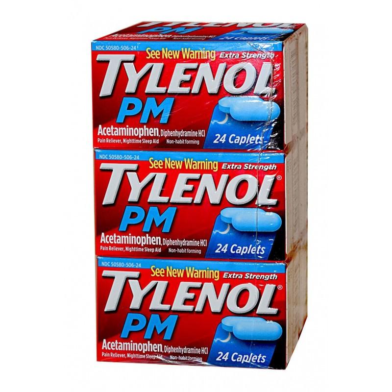 TYLENOL PM CAPLETS 24'S 6 Units - WHOLESALEONLINE1