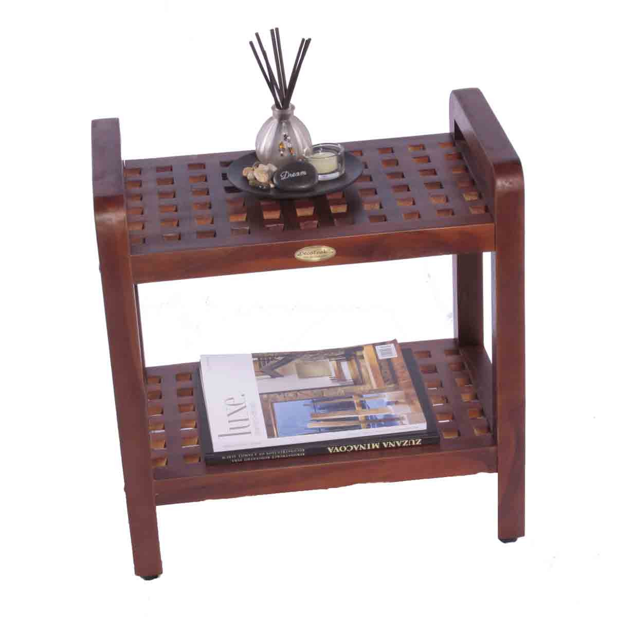 teak shower chairs with arms folding wood contemporary grate bench chair seat stool shelf- 18