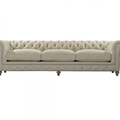 Tufted Linen Sectional Sofa Gray Cheap Chesterfield Cigar Club Upholstered 118