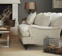 Churchill Linen Upholstered English Rolled Arm Sofa | Zin Home