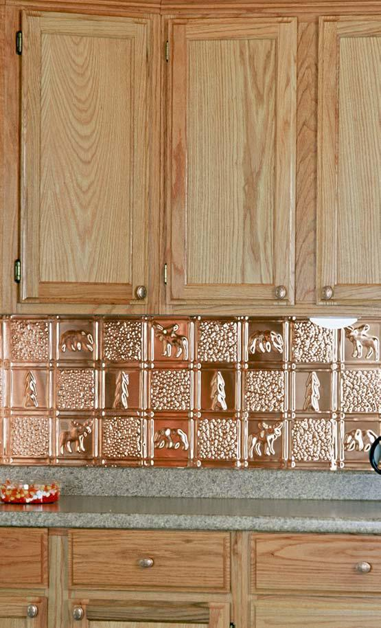 Polished Copper Backsplash Is In This Installation To Demonstrate The Ease Of Install