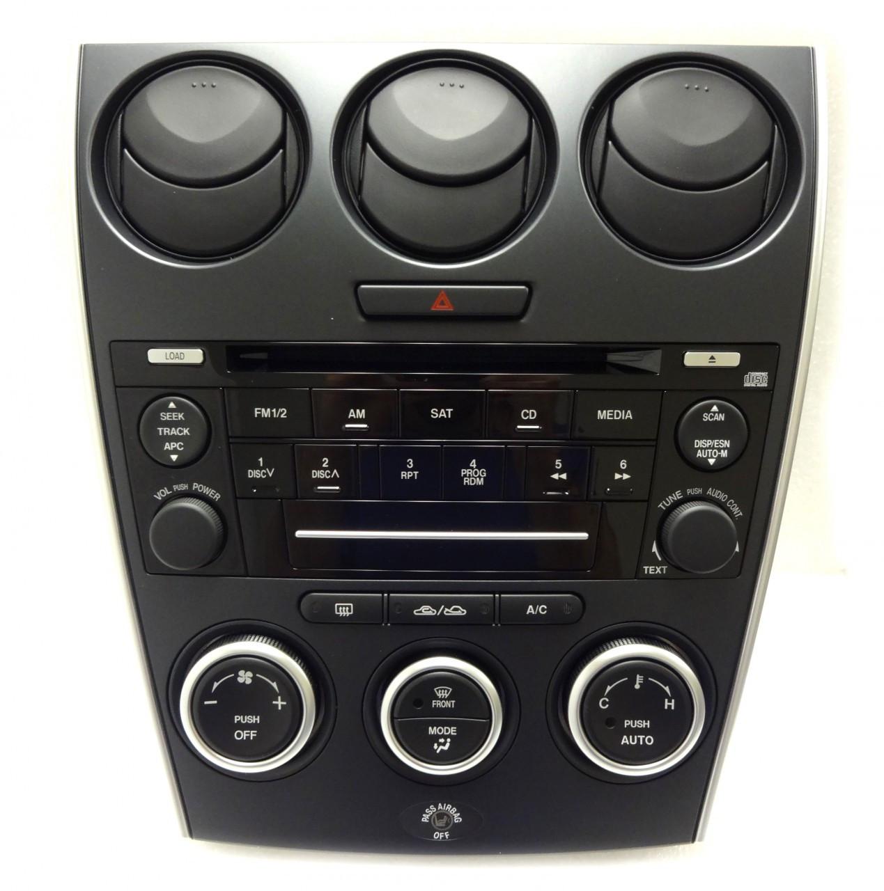 MAZDA 6 Radio Stereo CD Player Auto Climate Temp Controls