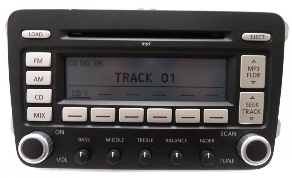 medium resolution of details about vw volkswagen jetta passat rabbit premium 7 radio 6 disc changer mp3 cd player
