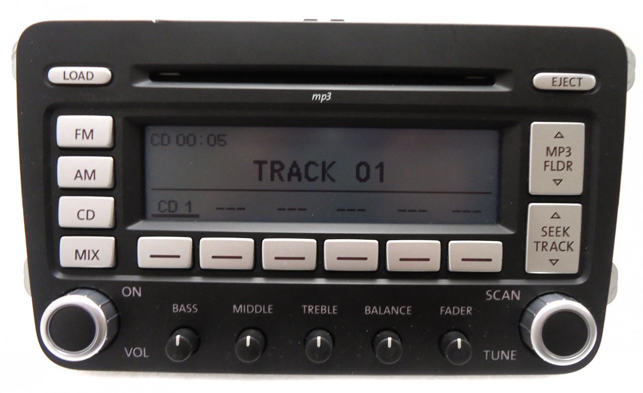 hight resolution of details about vw volkswagen jetta passat rabbit premium 7 radio 6 disc changer mp3 cd player