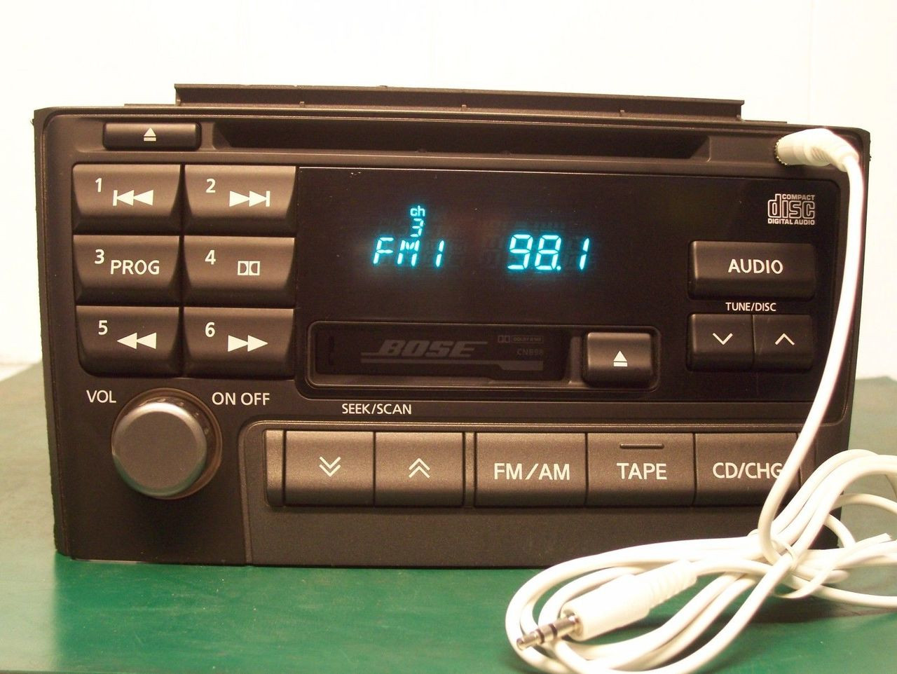 details about 2000 2003 nissan maxima bose radio cd player added aux input cnb98 [ 1280 x 962 Pixel ]