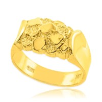 Gold Nugget Wedding Band | Nugget Rings