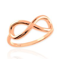 10K Rose Gold Infinity Ring in High Polish 1.35mm (Made in ...